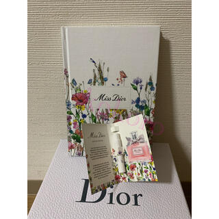 ディオール(Dior)のミスディオール 限定 ノート 花柄 ミレフィオリ イベント オードゥパルファン(ノベルティグッズ)