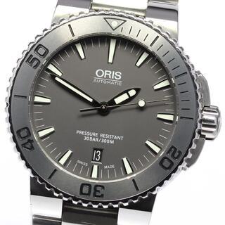 オリス(ORIS)の☆美品  オリス アクイス デイト 7653 自動巻き メンズ 【中古】(腕時計(アナログ))