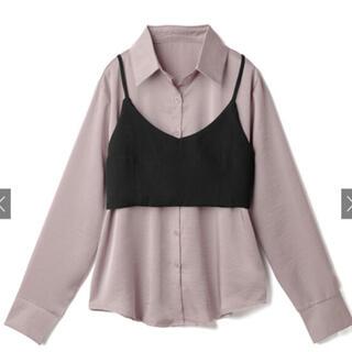 GRL - GRL リボンビスチェ付きロングシャツ