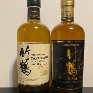 ニッカウイスキー(ニッカウヰスキー)のニッカ竹鶴 新旧ボトル2本セット(ウイスキー)