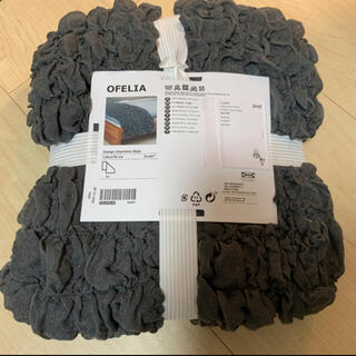 イケア(IKEA)のIKEA イケア オフェーリア グレー(シーツ/カバー)