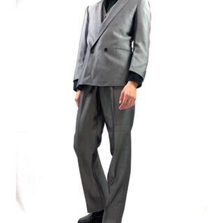 ジョンローレンスサリバン(JOHN LAWRENCE SULLIVAN)の個性派 スリーピース シルバー ダブルタイプ セットアップ メンズ モード(セットアップ)