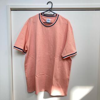 ZARA - ZARA  サーモンピンクのオシャレTシャツ XL