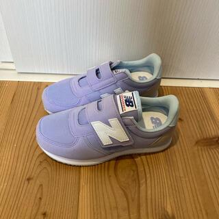 New Balance - 【新品】 ニューバランス 21cm パープル×ブルー