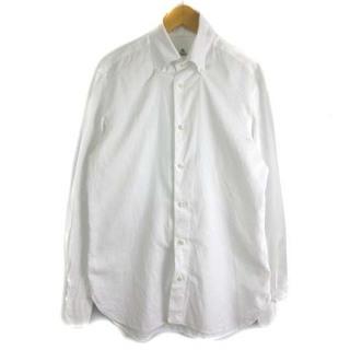ルイジボレッリ(LUIGI BORRELLI)のルイジボレッリ ワイシャツ 長袖 ボタンダウン コットン 白 ホワイト (シャツ)