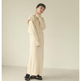 トゥデイフル(TODAYFUL)のLayered Knit Dress(ロングワンピース/マキシワンピース)
