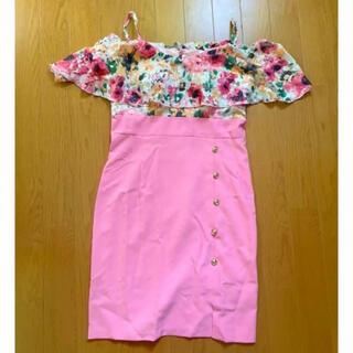 dazzy store - 新品未使用 花柄キャバドレス Mサイズ ピンク デイジーストア