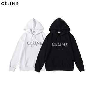 celine - 2枚14000/Celine パーカー 男女兼用#V16