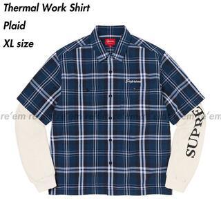 Supreme - Supreme Thermal Work Shirt Plaid XL 21FW