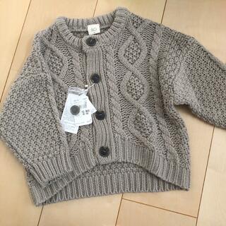 カーディガン 冬服 グレー 灰色 90 新品 上着 女の子 男の子