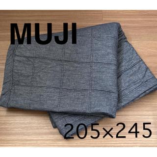 MUJI (無印良品) - 無印良品 綿デニム キルティングラグ