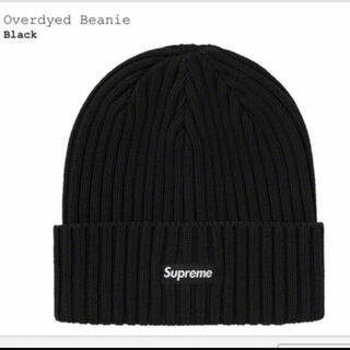 Supreme - Supreme Overdyed Beanie Black ビーニー
