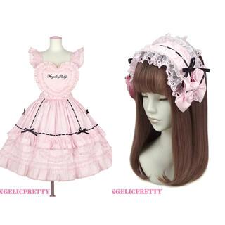 Angelic Pretty - AngelicPretty Heart胸あて付スカートセット