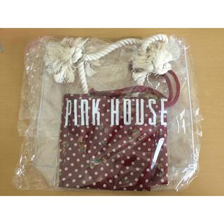 ピンクハウス(PINK HOUSE)の【未使用】ピンクハウス バッグ 巾着 ビニールバッグ PINKHOUSE(ハンドバッグ)