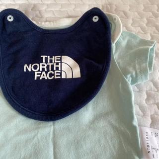 ザノースフェイス(THE NORTH FACE)のノースフェイス ベビー ロンパース 半袖 スタイ付き(ロンパース)