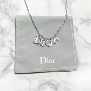 ディオール(Dior)のDior クリスチャンディオール ロゴ アルファベット ネックレス シルバー(ネックレス)