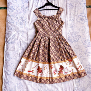 Innocent World - くまちゃんチェック柄ジャンパースカート