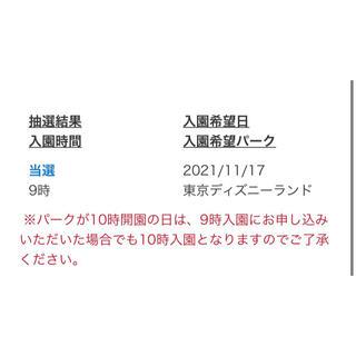 ディズニー チケット 11/17