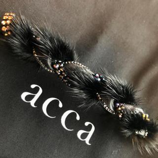 acca - アッカacca 秋冬に♡ミンク&ラインストーンが輝く⭐️豪華なバレッタ クリップ