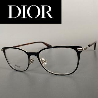 クリスチャンディオール(Christian Dior)のメガネ ディオール ブラック 鼈甲 レクタンギュラー メタル 黒 眼鏡 度付き(サングラス/メガネ)