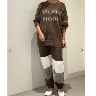 ジェラートピケオム♡ベビモコロゴジャガードプルオーバー&ロングパンツ