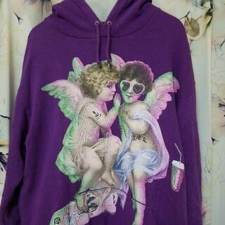 ミルクボーイ(MILKBOY)のミルクボーイ パーカー 紫 レア 双子天使 パープル 病み可愛 トレーナー(パーカー)