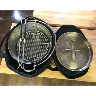 シンフジパートナー(新富士バーナー)の1回使用のみ SOTO ステンレスダッチオーブン12インチ フルオプション(調理器具)