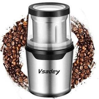 電動コーヒーミル 4枚刃 ステンレス製 カバー付き A11(電動式コーヒーミル)