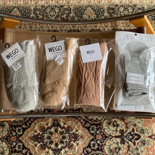 ウィゴー(WEGO)のWEGOシャギー ケーブル ソックス4足セット 新品(ソックス)