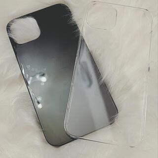 iPhone13ケース ブラック&クリアセット