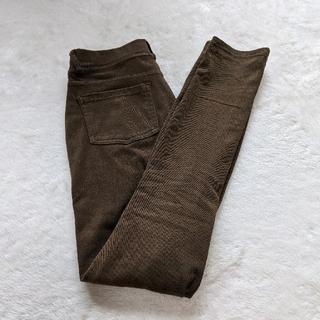 ムジルシリョウヒン(MUJI (無印良品))のストレッチレギンスパンツ ブラウン 無印(スキニーパンツ)