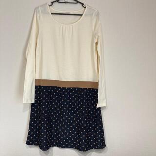 ショコラフィネローブ(chocol raffine robe)のショコラフィーネローブ 長袖ワンピース(ひざ丈ワンピース)
