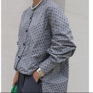 Drawer - 【試着のみタグ付き】MACHATT マチャット スタンドカラーオーバーシャツ