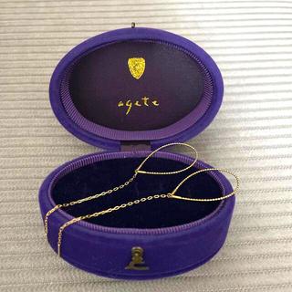 agete - アガット k10  スウィング ピアス アメリカンピアス