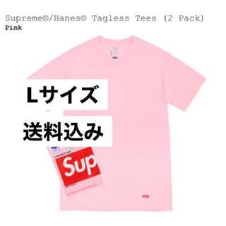 Supreme - Supreme Hanes Tシャツ ピンク1枚 新品