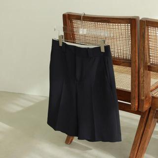 【todayful】Twill Half Pants 38 ブラック