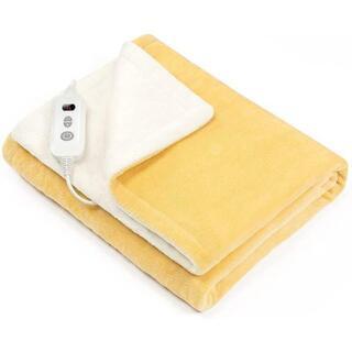電気毛布 6段階温度調節 敷き掛け 140cm×80cm ひざ掛け 電気敷き毛布