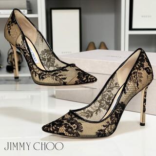 JIMMY CHOO - 2905 ジミーチュウ レース パンプス ブラック