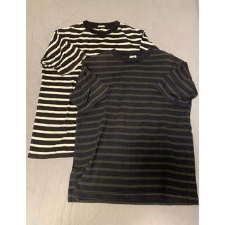 コモリ(COMOLI)のcomoli コモリ コットンボーダーTシャツ 2枚セット サイズ2(Tシャツ/カットソー(半袖/袖なし))