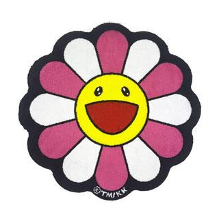 村上隆 Flower Floor Mat / Pink × White(ラグ)