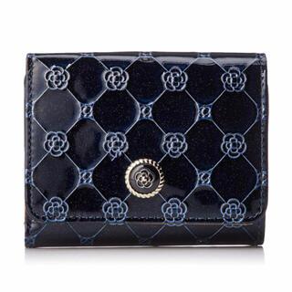 クレイサス(CLATHAS)のCLATHAS 三つ折り財布 フリージア ネイビー(財布)