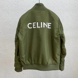 セリーヌ(celine)の☆CELINE☆ ロゴプリント ツイルボンバージャケット(テーラードジャケット)