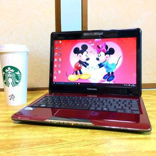 光沢ワインレッド  Windows10 Office2016  wi-fiあり