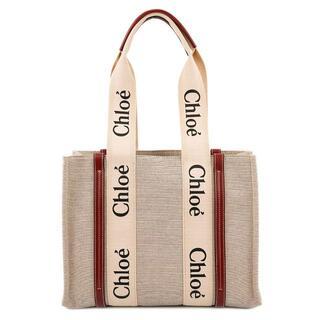 Chloe - クロエ トートバッグ CHC21US383E66 WOODY ホワイト×ブラウン