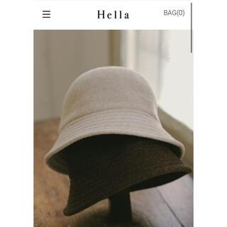 トゥデイフル(TODAYFUL)のhella / wool bell hat (white)(ハット)