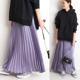 IENA SLOBE -  2019AW サテンプリーツスカート