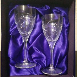 ロイヤルドルトン(Royal Doulton)の【新品箱付き】ロイヤルドルトン ペア ワイングラス(グラス/カップ)