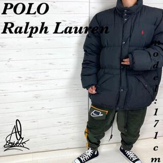 ポロラルフローレン(POLO RALPH LAUREN)の《超オーバーサイズ》ラルフローレン ダウンジャケット 3XL☆ブラック 黒 刺繍(ダウンジャケット)