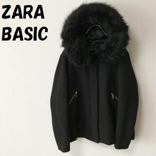 ZARA - 【人気】ザラベーシック フーディージャケット ブラック USサイズL レディース