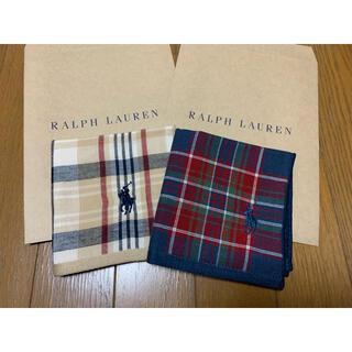 ラルフローレン(Ralph Lauren)のラルフローレン タオルハンカチ 2枚セット④(ハンカチ/ポケットチーフ)